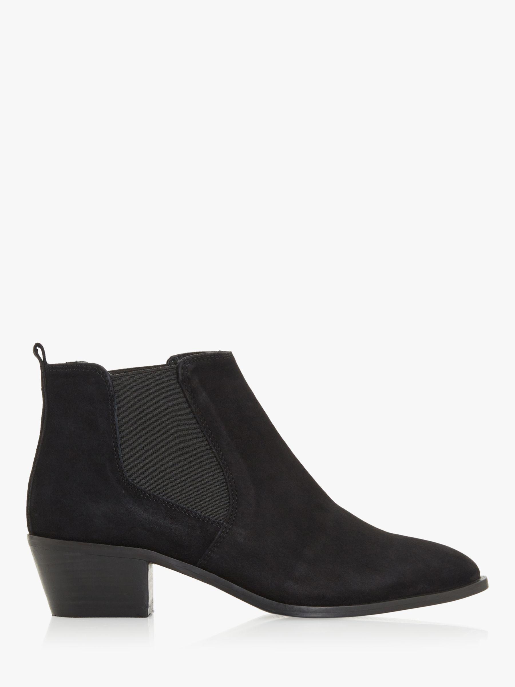 Bertie Bertie Peater Block Heel Chelsea Boots, Black