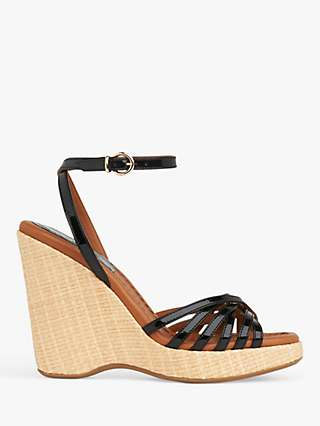 L.K.Bennett Solange Leather Strappy Wedge Heel Sandals
