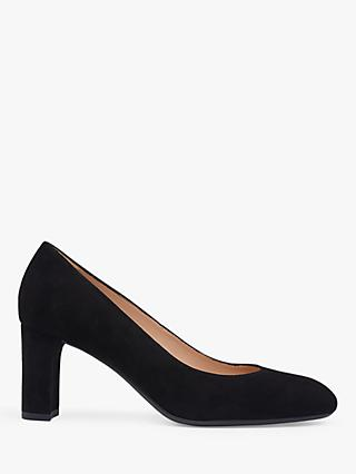 L.K.Bennett Winola Suede Court Shoes, Black