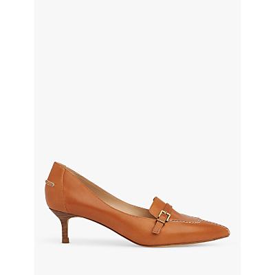 L.K.Bennett Farah Kitten Heel Leather Court Shoes