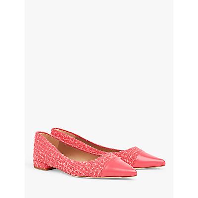L.K.Bennett Tweed Toe Cap Flats, Pink