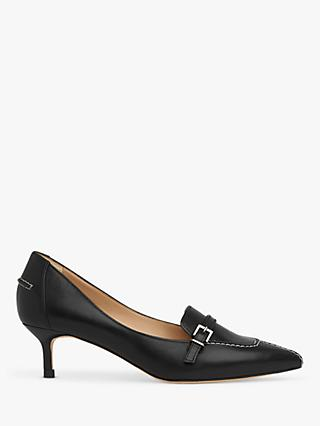 L.K.Bennett Farah Kitten Heel Leather Court Shoes