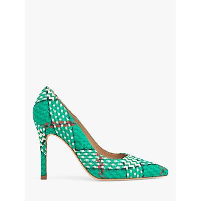 L.K.Bennett Fern Tweed Court Shoes, Green