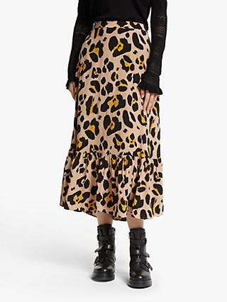Somerset by Alice Temperley Oversized Leopard Print Skirt, Multi