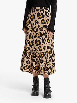 Somerset by Alice Temperley Oversized Leopard Print Skirt, Multi