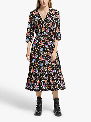 Somerset by Alice Temperley Peruvian Floral Dress, Black/Multi