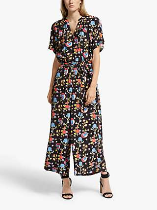 Somerset by Alice Temperley Peruvian Floral Jumpsuit, Black/Multi