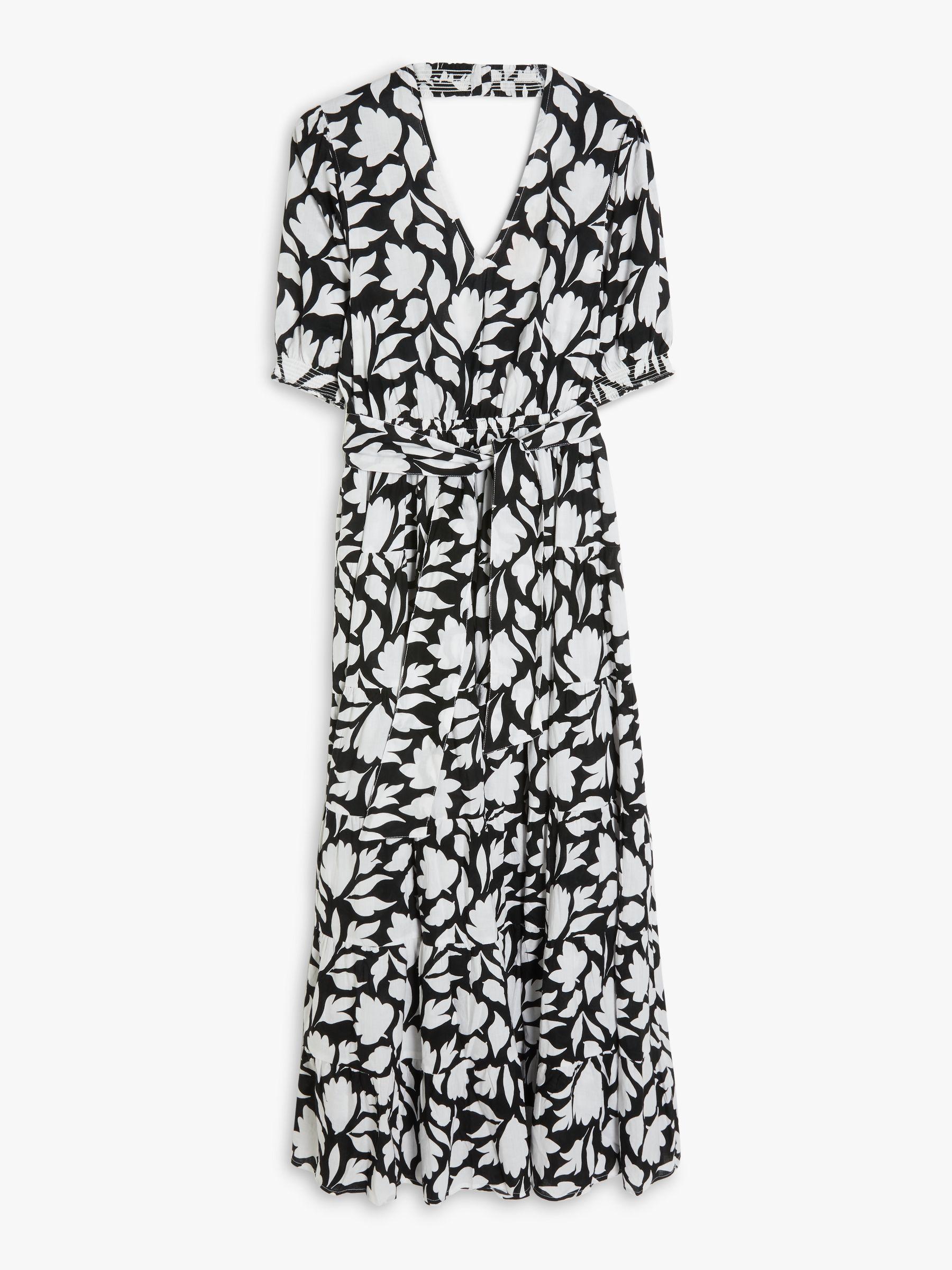 AND/OR La Galeria Elefante Lyrical Block Floral Dress, Black