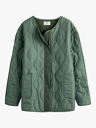 hush Nellie Quilted Jersey Jacket, Khaki