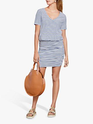 hush V-Neck Tara Stripe Dress, White