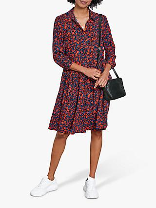 hush Emanuelle Floral Shirt Dress, Red