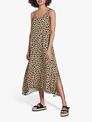 hush Albee Leopard Midi Dress, Grey