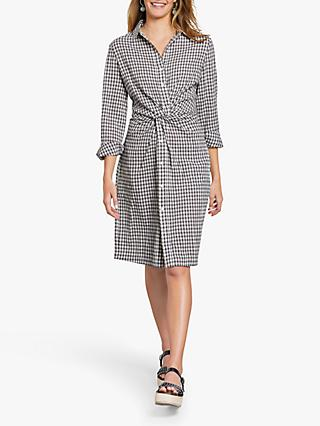 hush Charlie Twist Check Shirt Dress, Grey