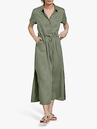 hush Jorja Shirt Dress, Green