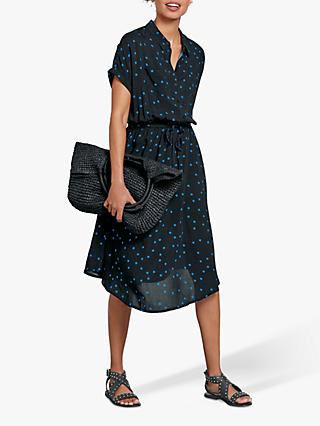 hush Harriet Dress, Black/Blue