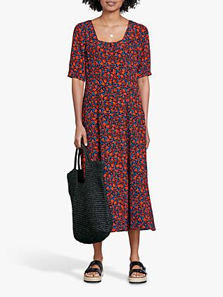 hush Hanna Floral Midi Dress, Red