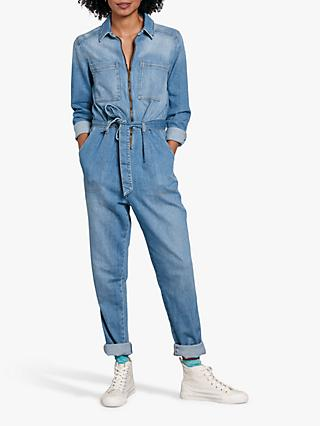 hush Joanie Denim Jumpsuit, Blue