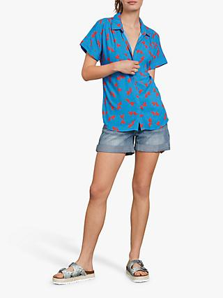 hush Karin Shirt, Blue/Red