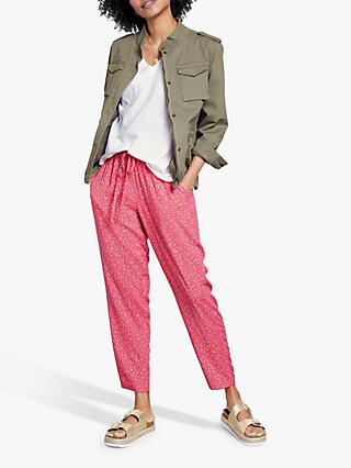 hush Cropped Easy Trousers, Pink