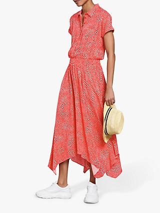 hush Kensington Dress, Red/White