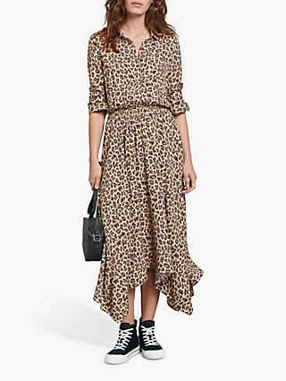 hush Leopard Print Dress, Brown Multi