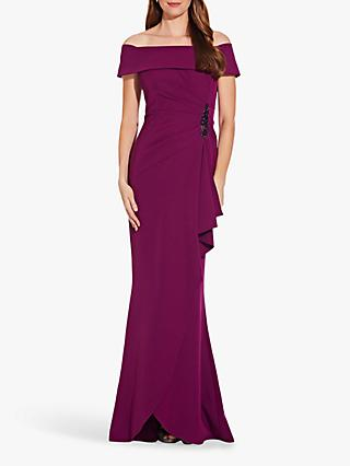 Adrianna Papell Off Shoulder Gown, Wild Berry