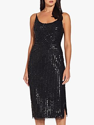 Adrianna Papell Beaded Tank Dress, Black