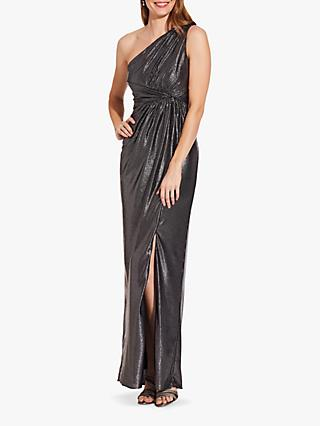 Adrianna Papell  Metallic Jersey Maxi Dress