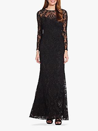 Adrianna Papell Emblem Embellished Dress, Black