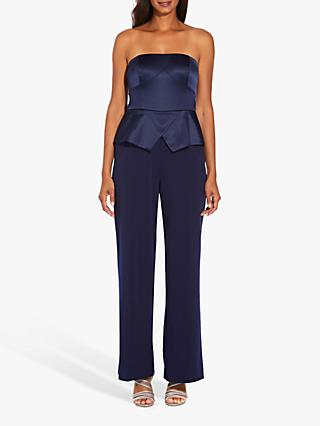 Adrianna Papell Strapless Jumpsuit, Light Navy