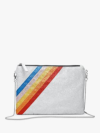 hush Caleigh Clutch Bag, Silver