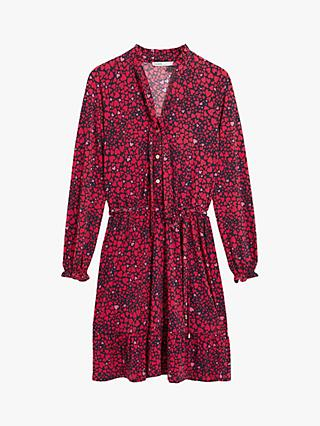 Oasis Heart Print Shirt Dress, Red Multi
