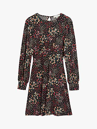 Oasis Ditsy Floral Tea Dress, Black/Multi