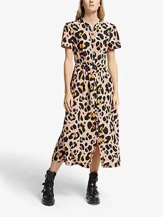 Somerset by Alice Temperly Oversized Leopard Print Shirt Dress, Multi