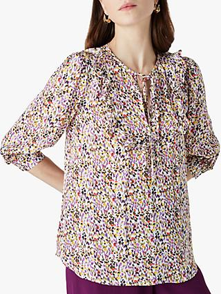 Finery Makenna Floral Print Top, Multi