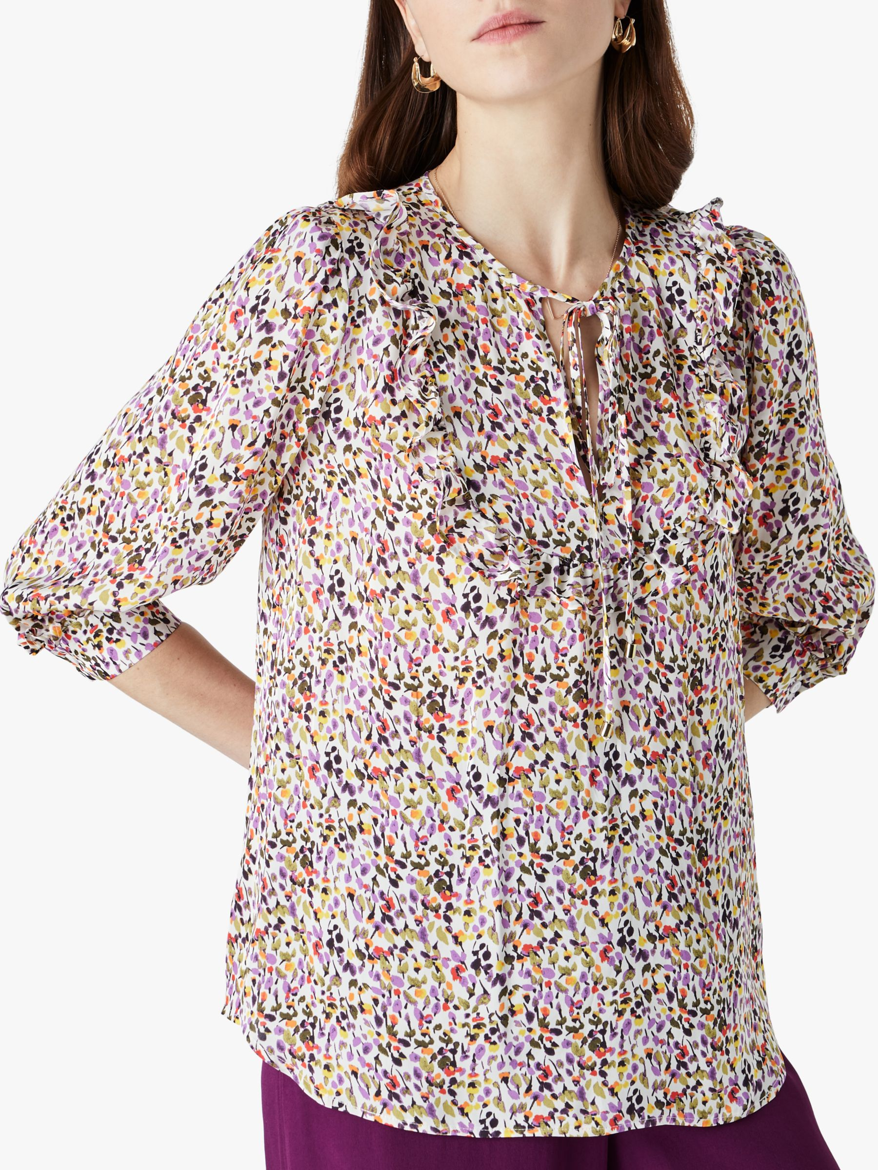 Finery Finery Makenna Floral Print Top, Multi