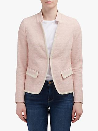 Helene For Denim Wardrobe Amelia Notch Collar Jacket, Pink