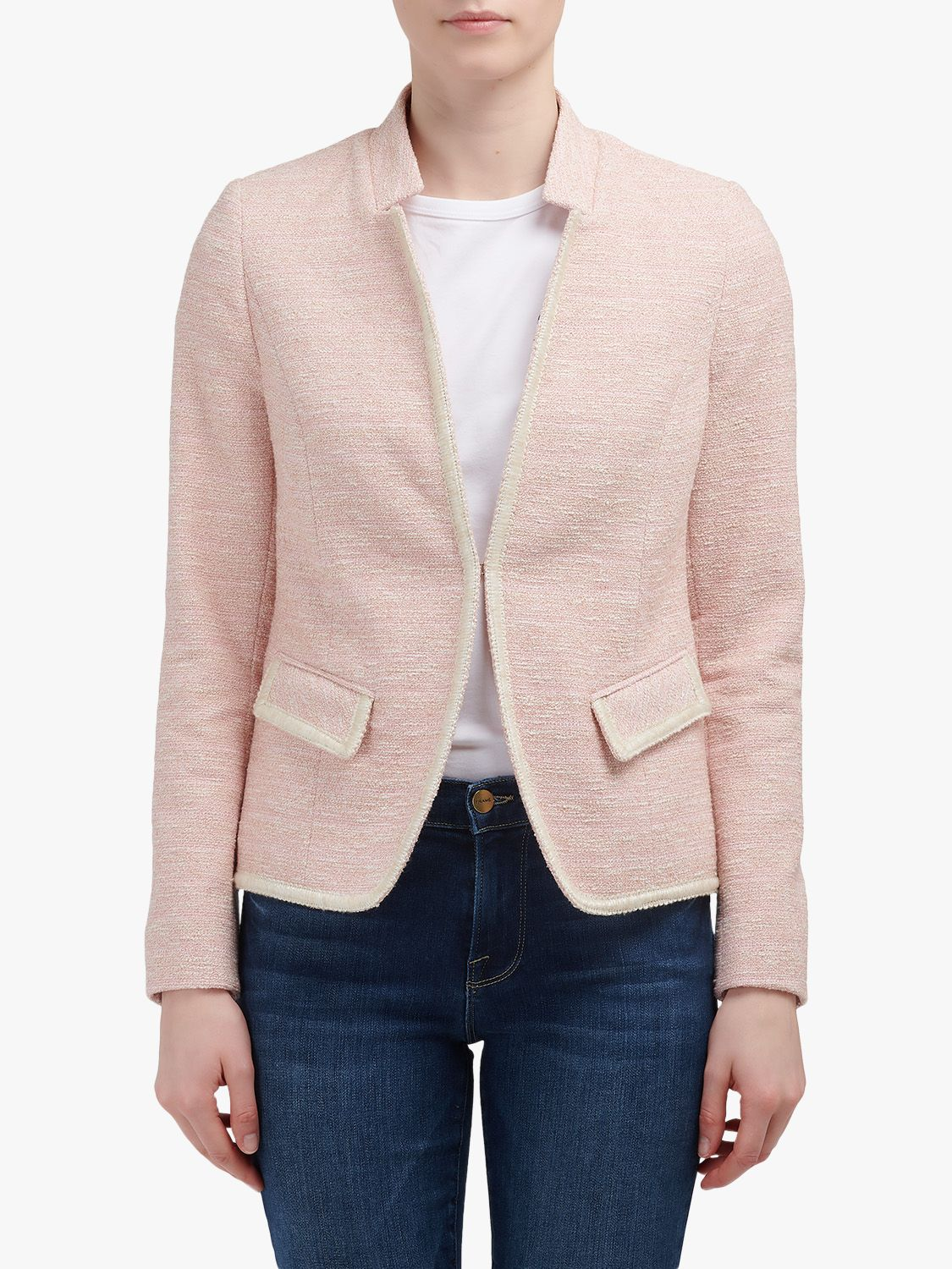 Helene For Denim Wardrobe Helene For Denim Wardrobe Amelia Notch Collar Jacket, Pink