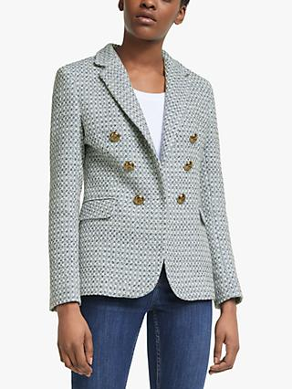 Helene For Denim Wardrobe Button Detail Blazer, Blue