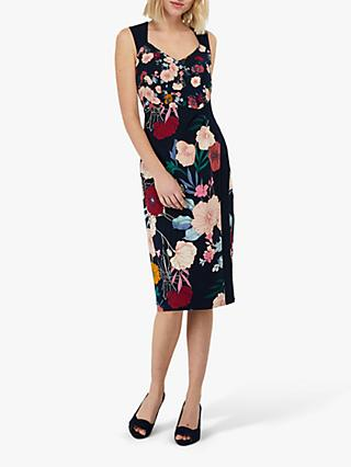Monsoon Frances Shift Dress, Navy