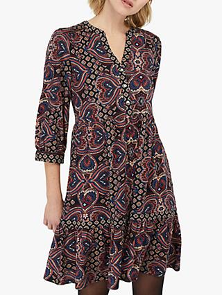 Monsoon Himanshi Heart Dress, Navy