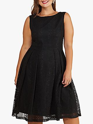 Yumi Curves Fit And Flare Dress, Black