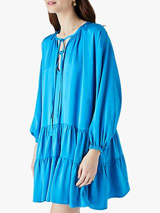 Finery Leighton Mini Dress, Blue