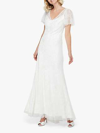 Monsoon Kitty Bridal Embellished Maxi Dress, Ivory