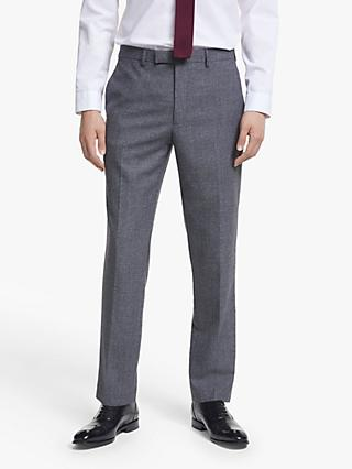 Kin Semi Plain Wool Slim Fit Suit Trousers