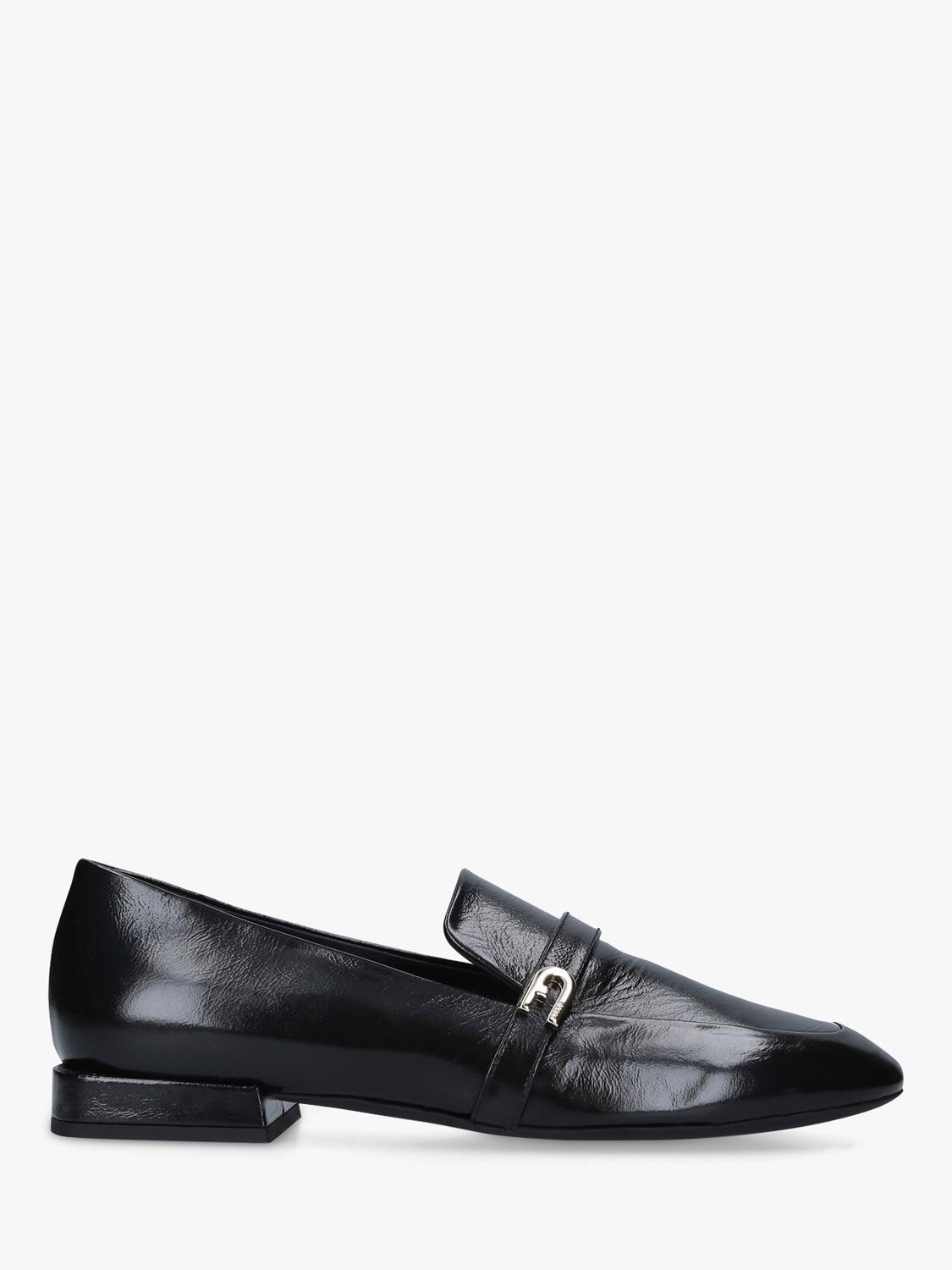 Furla Furla 1927 Leather Loafers, Black