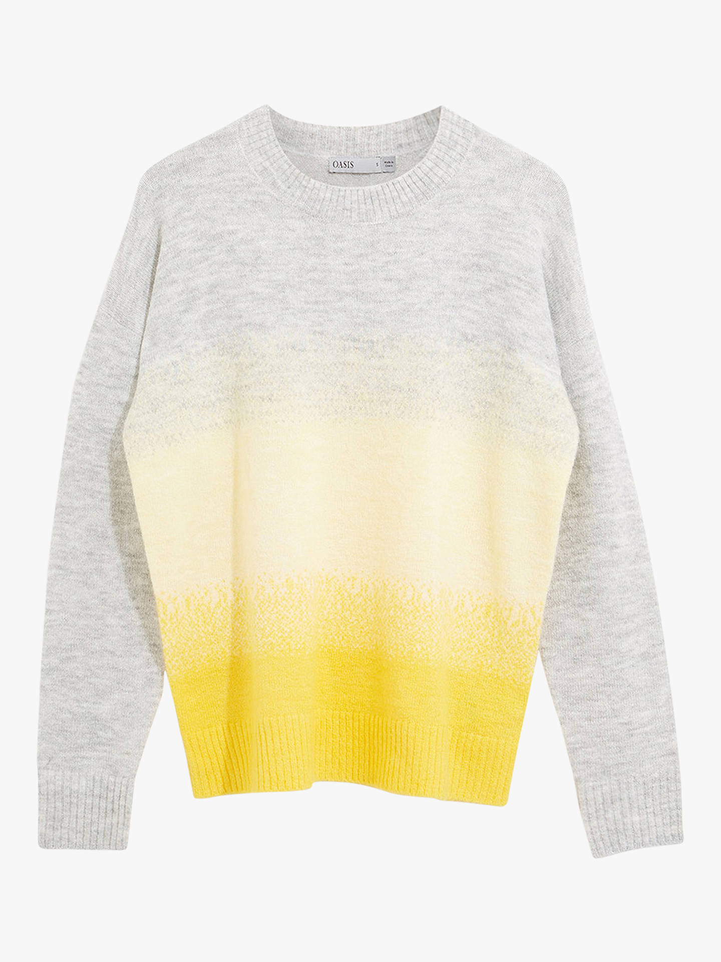 Oasis Ombre Fluffy Knit Jumper, MultiYellow at John Lewis