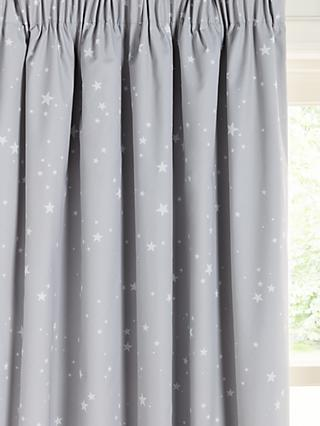 little home at John Lewis Stardust Pencil Pleat Blackout Children's Curtains
