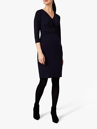 Phase Eight Selima Twist Jersey Dress, Navy