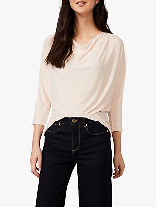 Phase Eight Morgan Cowl Neck Top, Pale Pink